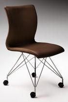 Sedia da ufficio moderna / imbottita / con rotelle / ergonomica