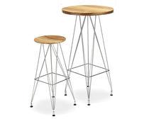 Tavolo alto moderno / in legno compensato / in zebrano / in acciaio inossidabile lucido