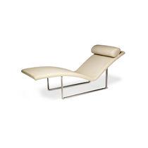 Chaise longue moderna / in tessuto / in pelle / in compensato stampato
