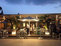 Ombrellone per bar / per hotel / in alluminio / con illuminazione incorporata