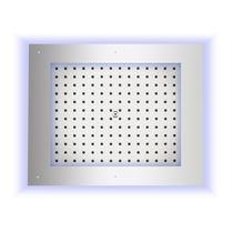 Soffione doccia con cromoterapia / da soffitto / rettangolare / a pioggia