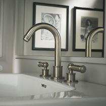 Miscelatore doppio comando per lavabo / da appoggio / in ottone cromato / da bagno