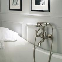 Miscelatore doppio comando per doccia / per vasca / da parete / in ottone cromato