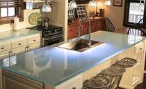 Piano di lavoro in vetro / da cucina
