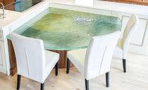 Piano per tavolo in vetro / per ristorante