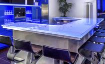 Mobile bar moderno / in vetro / su misura / luminoso
