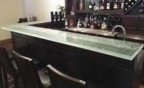 Mobile bar professionale / moderno / in vetro / su misura