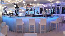 Bancone da bar / in vetro / luminoso / design originale