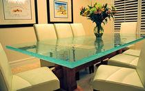 Tavolo moderno / in vetro / quadrato