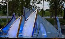 Fontana pubblica / in vetro / in acciaio inox