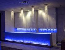 Bancone da bar / in vetro / dritto / luminoso