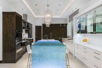 Bancone da cucina / in vetro / dritto / luminoso