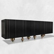 Credenza moderna / in legno massiccio / in frassino / in ottone