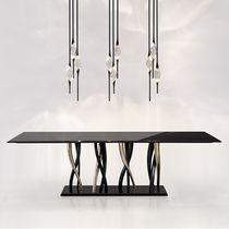 Tavolo moderno / in ottone / in marmo / rettangolare
