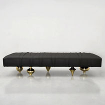 Ottomana design originale / in pelle / su misura / imbottita