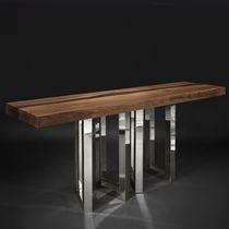 Consolle design originale / in legno massiccio / in frassino / in wengé