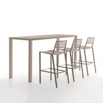 Tavolo alto moderno / in metallo / rettangolare