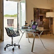 Sedia moderna / con rotelle / con base a stella / in ghisa di alluminio