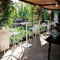 Sgabello da bar moderno / in ghisa di alluminio / da giardino