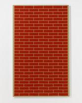 Pannello decorativo da parete / in tessuto / a motivo stampato / aspetto mattone