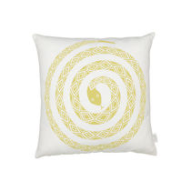 Cuscino per divano / quadrato / a motivi / in cotone