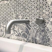 Miscelatore per lavabo / da parete / in acciaio inossidabile / da bagno