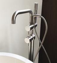 Miscelatore da vasca / a pavimento / in acciaio inox / da bagno