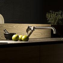 Miscelatore da parete / da incasso / in acciaio inox / da cucina