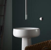 Miscelatore per lavabo / a soffitto / in acciaio inox / in vetro