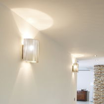 Applique moderna / in acciaio inossidabile / LED / alogena