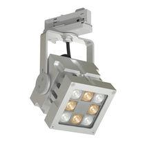 Faretti a binario LED / quadrata / in alluminio / professionale