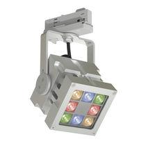Faretti a binario LED RGB / quadrata / in alluminio / professionale