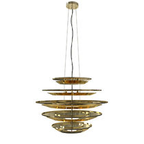 Lampadario design originale / in alluminio / in ottone placcato oro / LED