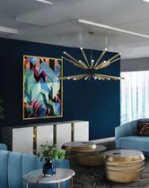 Lampadario moderno / in alluminio / in ottone / LED