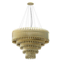 Lampadario design originale / in ottone / LED