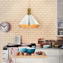 Lampada a sospensione / in stile industriale / in alluminio / in ottone