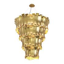 Lampadario moderno / in ottone