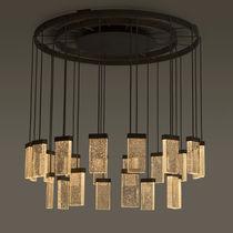 Lampadario moderno / in vetro / in alluminio / LED