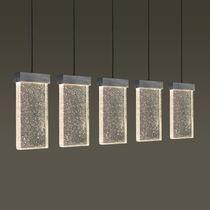 Luce sospesa / LED / rettangolare / in vetro