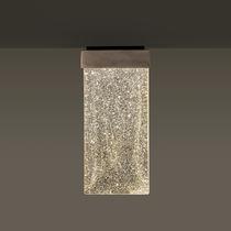 Plafoniera moderna / rettangolare / in vetro / LED