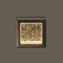 Applique moderna / da esterno / in vetro / in ottone