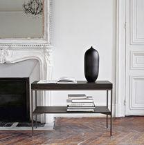 Tavolo d'appoggio moderno / in quercia / rettangolare / con contenitore