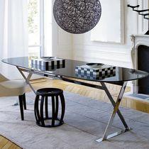 Tavolo moderno / in marmo / in fibra di legno / ovale