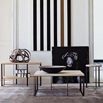 Tavolino basso moderno / in legno / in marmo / circolare
