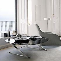 Tavolino basso moderno / in marmo / in fibra di legno / rotondo