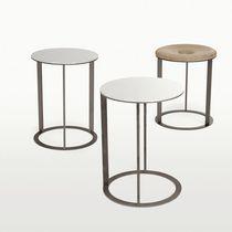 Tavolo d'appoggio moderno / in quercia / rotondo / quadrato