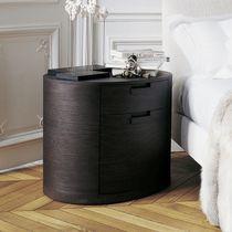 Comodino moderno / in legno / ovale / con cassetti
