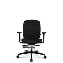 Poltrona da ufficio moderna / in pelle / in alluminio / con rotelle
