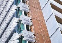 Frangisole in alluminio / per facciata / orizzontale