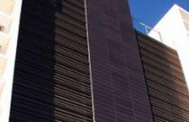 Griglia di ventilazione in alluminio / in acciaio / lineare / per facciate